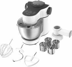 Krups MASTER PERFECT KA3121 Küchenmaschine mit Schnitzelwerk und Flex Whisk-Schneebesen - 1.000 Watt - Weiß