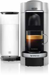 Nespresso Vertuo Plus Deluxe ENV155.S Kapselmaschine mit Centrifusion™ Technologie und Barcode-Technologie - Silber / Schwarz