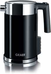 Graef WK702EU Wasserkocher mit Handbrüh-Taste für Filterkaffee und Restwärmeanzeige, 2.000 Watt, 1,5 Liter - Schwarz / Edelstahl