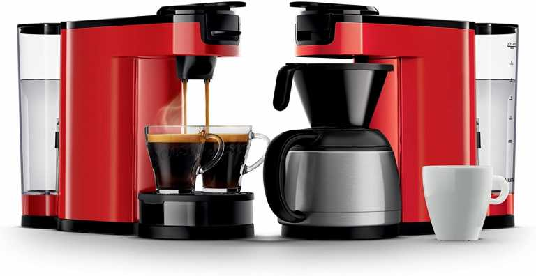Philips Senseo HD6592/80 Switch 2-in-1 Kaffeemaschine, rot